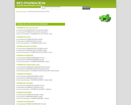 Pharmacies Alpes-de-Haute-Provence - Info...