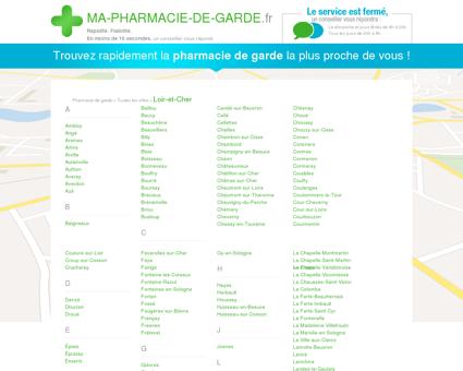 Pharmacies de garde dans le département 41 -...