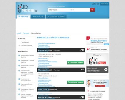 Pharmacie Charente Maritime - Médecin -...