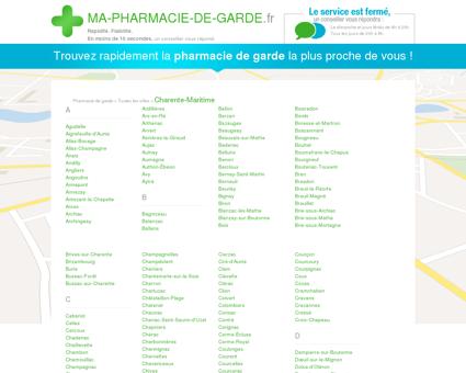 Pharmacies de garde dans le département 17 -...