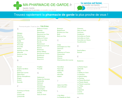 Pharmacies de garde dans le département 95 -...
