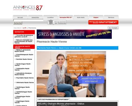 Pharmacie Haute-Vienne - Le 87 # Annonces...