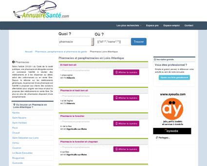 Les pharamacies en Loire-Atlantique et...