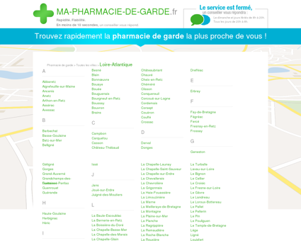 Pharmacies de garde dans le département 44 -...