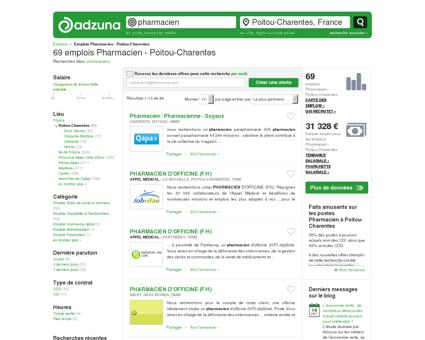 Offres d'emploi Pharmacien - Poitou...