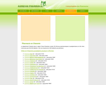 Pharmacie Charente dans le 16 en Poitou...