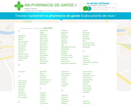 Pharmacies de garde dans le département 68 -...