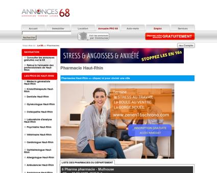 Pharmacie Haut-Rhin - Le 68 # Annonces...