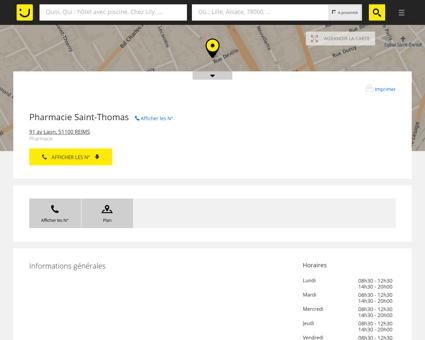 Pharmacie Saint-Thomas Reims (adresse,...