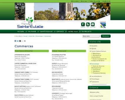 Commerces - Mairie de Sainte-Eulalie