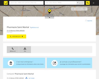Pharmacie Saint Martial Limoges (adresse)