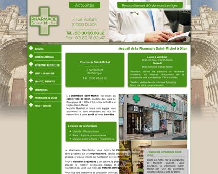 Accueil de la Pharmacie Saint-Michel à Dijon...