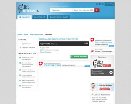 Pharmacie Sainte-croix-volvestre - Médecin -...