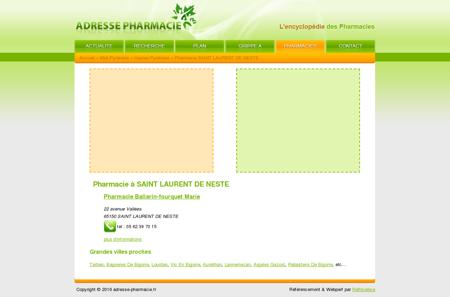 Pharmacie à SAINT LAURENT DE NESTE