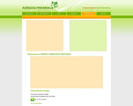 Pharmacie à SAINTE GENEVIEVE DES BOIS