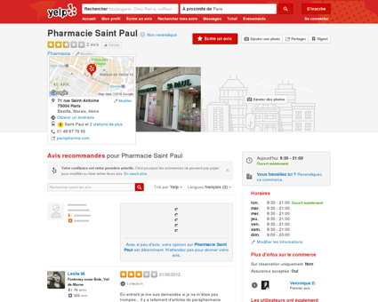 Pharmacie Saint-Paul - Pharmacie - Bastille -...