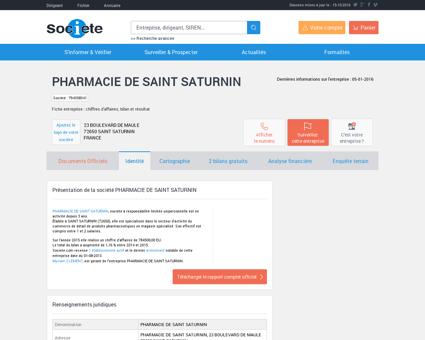PHARMACIE DE SAINT SATURNIN (SAINT...