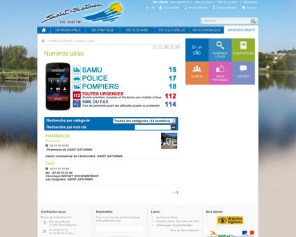 Numéros utiles - Saint-Saturnin - Site officiel...