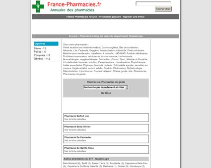 Pharmacies, pharmacie de garde - Ste Rose -...