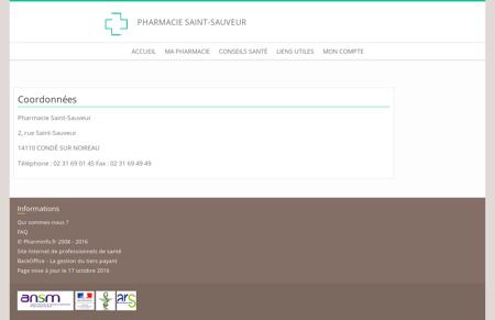 Pharmacie Saint-Sauveur - Coordonnées