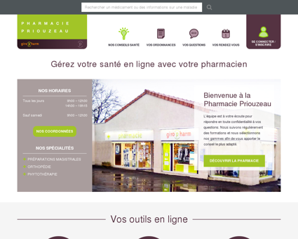 Pharmacien Giropharm  PRIOUZEAU 49270 ST...