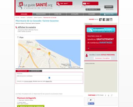 Pharmacie de La Cascade / Sainte-Suzanne