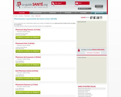 Pharmacien, Pharmacienne à Saint-Lizier...
