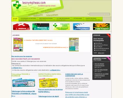 www.lesnympheas.com, Pharmacie à Sainte...