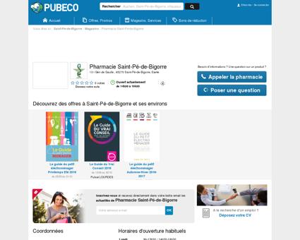 Pharmacie Saint-Pé-de-Bigorre - 13 r Gén de...