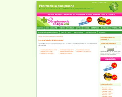 Les pharmacies à Sainte-Anne - Pharmacie : la...