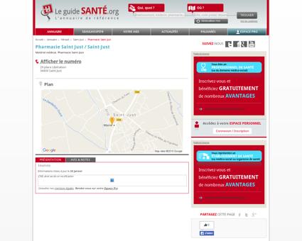 Pharmacie Saint Just, Matériel médical,...