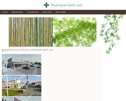 Pharmacie Saint-Just - Accueil