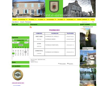 Mairie de Sainte-Gemme (17250) - Pharmacies