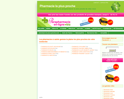 Pharmacies à sainte gemme la plaine