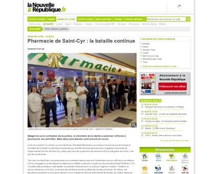 Pharmacie de Saint-Cyr : la bataille continue -...