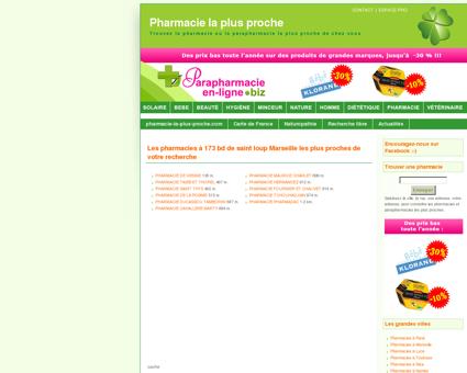 Pharmacies à 173 bd de saint loup Marseille