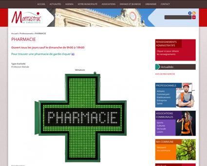 PHARMACIE | Mairie de Montastruc la...