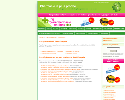 Les pharmacies à Saint-François - Pharmacie :...