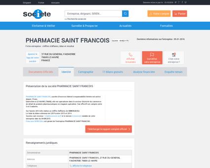PHARMACIE SAINT FRANCOIS (LE HAVRE)...