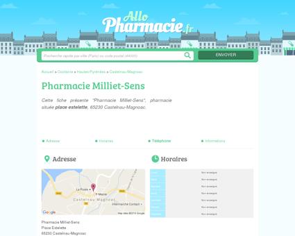 Pharmacie Milliet-Sens Castelnau-Magnoac...