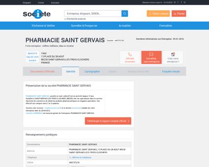 PHARMACIE SAINT GERVAIS (SAINT-GERVAIS...
