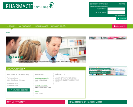 Pharmacie Saint-cricq, 63390 Saint-Gervais...
