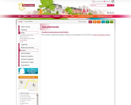 Les pharmacies / Ville de Saint Gratien