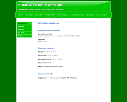 Infos pratiques | Pharmacie Fleurentin de...