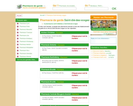 Pharmacie Saint-dié-des-vosges - Trouvez...