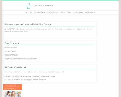 Pharmacie Carnot - Accueil