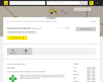 Pharmacie De La Bascule Villepinte (adresse,...