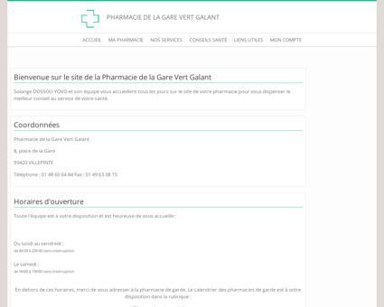 Pharmacie de la Gare Vert Galant - Accueil