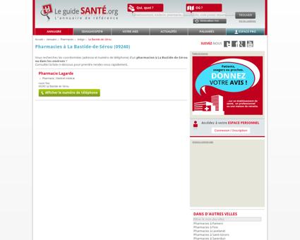 Pharmacien, Pharmacienne à La Bastide-de...