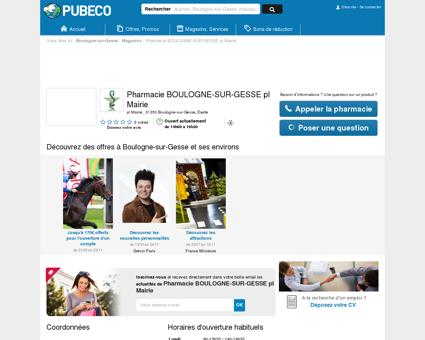 Pharmacie BOULOGNE-SUR-GESSE pl Mairie -...